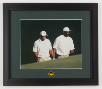 Tiger Woods & Michael Jordan 13x15 Custom Framed Photo Display with Pin at PristineAuction.com