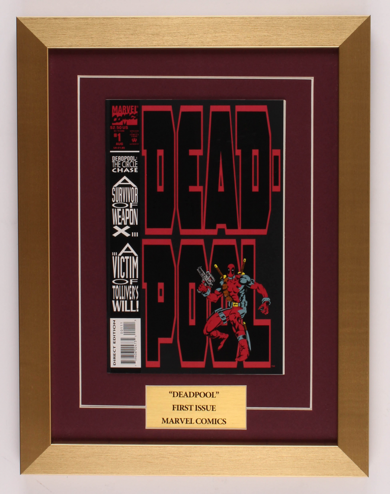 """Deadpool"" 13x17 Custom Framed Comic Book Display at PristineAuction.com"