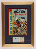 "Walt Disney's ""Donald Duck in Disneyland"" 13x18 Custom Framed Original 1955 Book Display with Ticket Booklet at PristineAuction.com"
