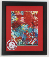 "LeRoy Neiman ""Alabama Crimson Tide"" 13x15 Custom Framed Print Display with Patch at PristineAuction.com"