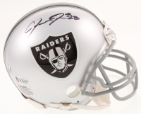 Josh Jacobs Signed Oakland Raiders Mini Helmet (Beckett COA) at PristineAuction.com