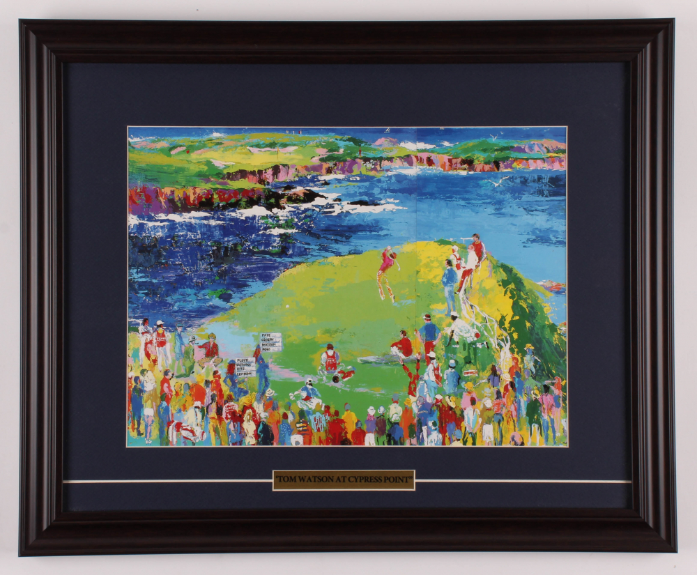 """Tom Watson """"The 16th at Cypress Point"""" 17.5x21.5 Custom Framed Print Display at PristineAuction.com"""