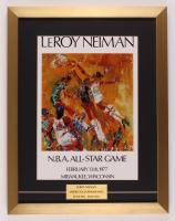 "LeRoy Neiman ""Julius Erving vs. Wilt Chamberlain"" 17x22 Custom Framed Print Display at PristineAuction.com"