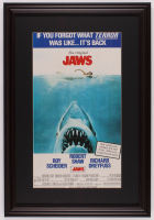 """Jaws"" 17.5x25.5 Custom Framed Movie Poster Print Display at PristineAuction.com"