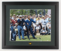 """Sam Snead & Arnold Palmer at the Masters"" 16x19 Custom Framed Photo Display with Pin at PristineAuction.com"