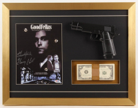 """Henry Hill Signed """"Goodfellas"""" 17x22 Custom Framed Print Display Inscribed """"Goodfella"""" with Replica Gun & Prop Money (PSA COA) at PristineAuction.com"""