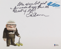 """Ed Asner Signed """"Up"""" 8x10 Photo Inscribed """"Lotsa Space But Just A Few Words To Say"""" & """"Have the Best Of Life!"""" (Beckett COA) at PristineAuction.com"""