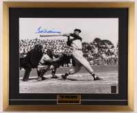Ted Williams Signed Boston Red Sox 21x25 Custom Framed Photo Display (Williams Hologram & PSA LOA- Autograph Graded 10) at PristineAuction.com