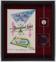 Disneyland 20x22.5x2 Custom Framed Shadowbox Display with Ashtray & Employee Pin at PristineAuction.com