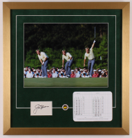 Jack Nicklaus Signed 20x21 Custom Framed Cut Display with Official Scorecard & Pin (JSA COA) at PristineAuction.com