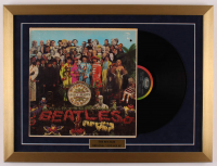 """The Beatles """"Sgt. Pepper's Lonely Hearts Club Band"""" 18x24 Custom Framed Vintage LP Vinyl Record Display at PristineAuction.com"""