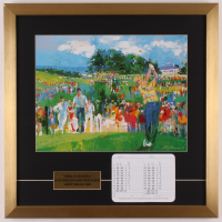 """LeRoy Neiman """"Jack Nicklaus At Augusta"""" 21x21 Custom Framed Print Display with National Scorecard at PristineAuction.com"""