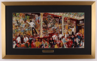 "LeRoy Neiman ""Bar Scene"" 17x27 Custom Framed Print Display at PristineAuction.com"