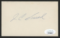 J. C. Snead Signed 3x5 Index Card (JSA COA) at PristineAuction.com