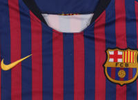 "Lionel Messi Signed Barcelona Jersey Inscribed ""Leo"" (Beckett COA) (Imperfect) at PristineAuction.com"