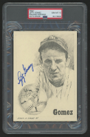 Lefty Gomez Signed New York Yankees 5x7 Print (PSA Encapsulated) at PristineAuction.com