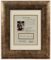 Mickey Mantle Signed New York Yankees 16x19 Custom Framed Stat Sheet Display (JSA ALOA) at PristineAuction.com