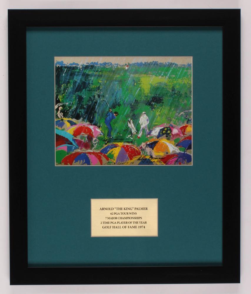"LeRoy Neiman ""Arnold Palmer"" 16x19 Custom Framed Print Display at PristineAuction.com"