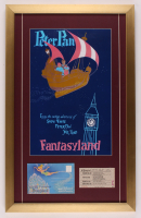 "Walt Disney's ""Fantasyland"" 17x27 Custom Framed Print Display with Postcards & Ticket at PristineAuction.com"