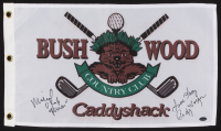 "Cindy Morgan & Michael O'Keefe Signed ""Caddyshack"" Bushwood Country Club Pin Flag Inscribed ""Noonan"" & ""Love Lacey"" (Schwartz COA) at PristineAuction.com"
