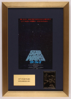 """Star Wars: Episode IV - A New Hope"" 13x19 Custom Framed Foreign Movie Poster Display with 23 KT Gold Card at PristineAuction.com"