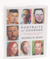 """George W. Bush Signed """"Portraits of Courage: A Commander in Chief's Tribute to America's Warriors"""" Hard Cover Book (JSA COA) at PristineAuction.com"""