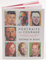 "George W. Bush Signed ""Portraits of Courage: A Commander in Chief's Tribute to America's Warriors"" Hard Cover Book (JSA COA) at PristineAuction.com"