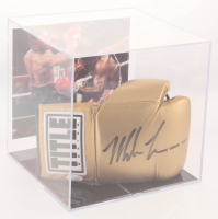 Mike Tyson Signed Title Boxing Glove with Display Case (JSA COA) at PristineAuction.com
