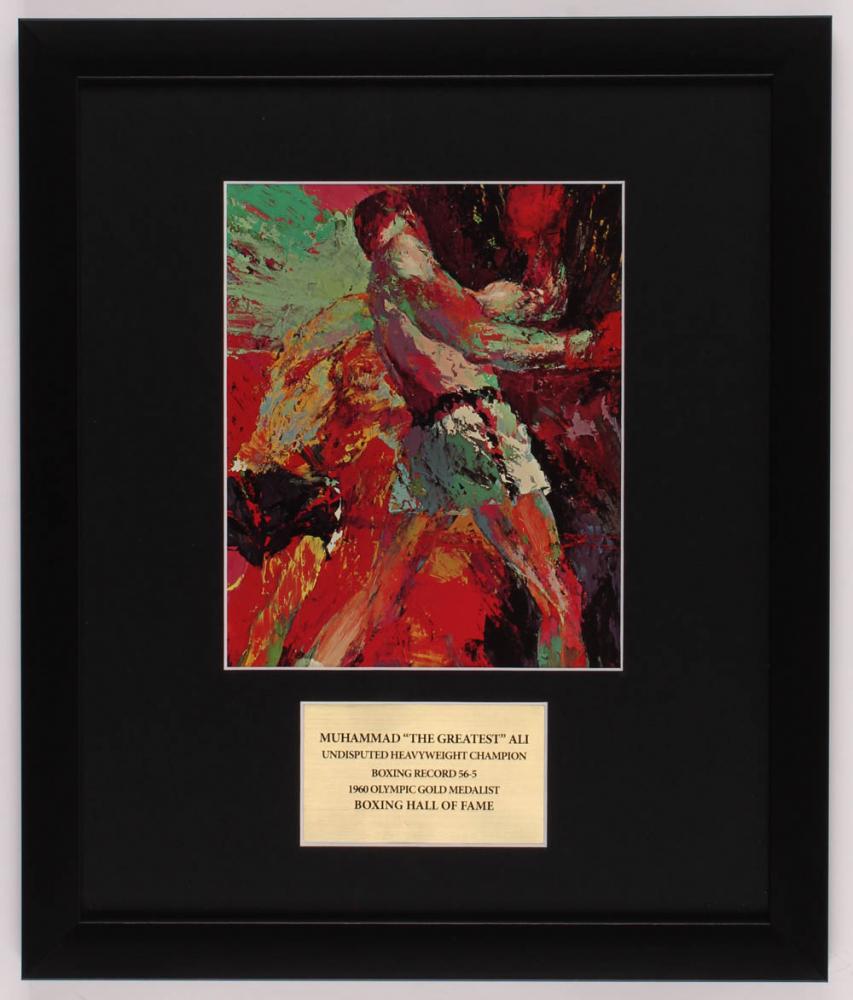 "LeRoy Neiman ""Muhammad Ali"" 16x19 Custom Framed Print Display at PristineAuction.com"