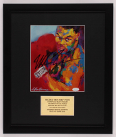 "LeRoy Neiman ""Mike Tyson"" Signed 16x19 Custom Framed Print Display (JSA COA) at PristineAuction.com"