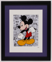 "Walt Disney's ""Mickey Mouse"" 16x19 Custom Framed Hand-Painted Animation Serigraph Display at PristineAuction.com"