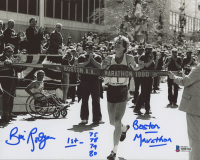 "Bill Rogers Signed Boston Marathon 8x10 Photo Inscribed ""1st- 75 78 79 80"" & ""Boston Marathon"" (Beckett COA) at PristineAuction.com"
