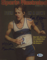 "Bill Rogers Signed 8x10 Photo Inscribed ""1st- 76 77 78 79"" & ""NY City Marathon"" (Beckett COA) at PristineAuction.com"