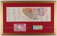 Disneyland 17.5x28 Custom Framed 1959 Original Map Display with Ticket Booklet & Postcards at PristineAuction.com