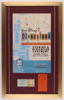 Disneyland 17x27 Custom Framed Print Display with Parking Pass & Ticket Booklet at PristineAuction.com