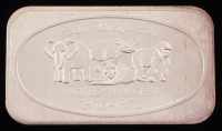 "Vintage 1 Troy Ounce .999 Fine Silver ""San Diego Zoo"" Bullion Bar at PristineAuction.com"
