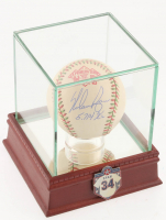 """Nolan Ryan Signed ONL Mexico Series Baseball Inscribed """"5,714 K's"""" with Display Case (PSA COA) at PristineAuction.com"""