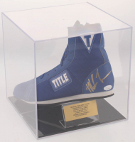 Mike Tyson Signed Title Boxin Shoe with Display Case (JSA COA) at PristineAuction.com