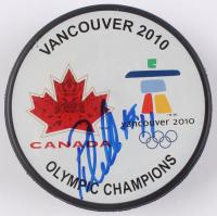 Patrick Marleau Signed 2010 Vancouver Olympic Champions Logo Hockey Puck (JSA COA) at PristineAuction.com
