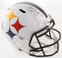 JuJu Smith-Schuster Signed Pittsburgh Steelers Full-Size AMP Alternate Speed Helmet (TSE COA) at PristineAuction.com