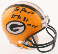 "Brett Favre Signed Green Bay Packers Mini-Helmet Inscribed ""'95, '96, '97 MVP"" (Radtke COA) at PristineAuction.com"