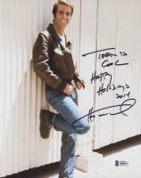 "Henry Winkler Signed ""Happy Days"" 8x10 Photo Inscribed ""Happy Holidays 2014"" (Beckett COA) at PristineAuction.com"
