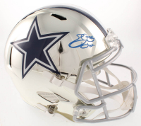 Emmitt Smith Signed Dallas Cowboys Full-Size Chrome Speed Helmet (Beckett COA & Prova Hologram) at PristineAuction.com