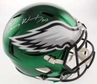 "Carson Wentz Signed Eagles Full-Size Chrome Speed Helmet Inscribed ""AO1"" (Fanatics Hologram) at PristineAuction.com"