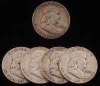 Lot of (5) 1952-1957 Franklin Silver Half Dollars at PristineAuction.com