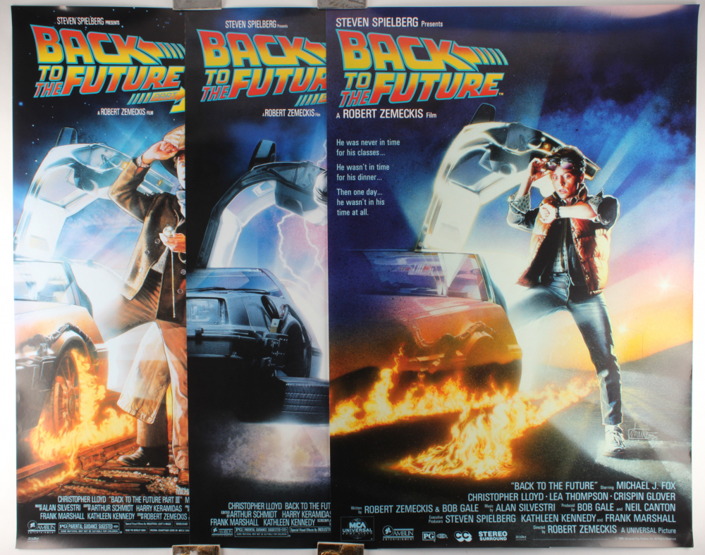 """Complete Set of (3) """"Back to the Future"""" 27x39.5 Movie Posters with Part I, Part II & Part III at PristineAuction.com"""