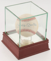 Mickey Mantle Signed OAL Baseball with Display Case (Beckett LOA) at PristineAuction.com