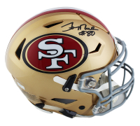 Jerry Rice Signed San Francisco 49ers Full-Size Authentic On-Field SpeedFlex Helmet (Radtke COA) at PristineAuction.com