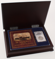 1859 50¢ Seated Liberty Half-Dollar from the SS Republic Shipwreck with Wooden Display Case (NGC Authentic - Shipwreck Effect) at PristineAuction.com