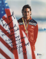 Greg Louganis Signed 8x10 Photo with Extensive Inscriptions (Beckett COA) at PristineAuction.com